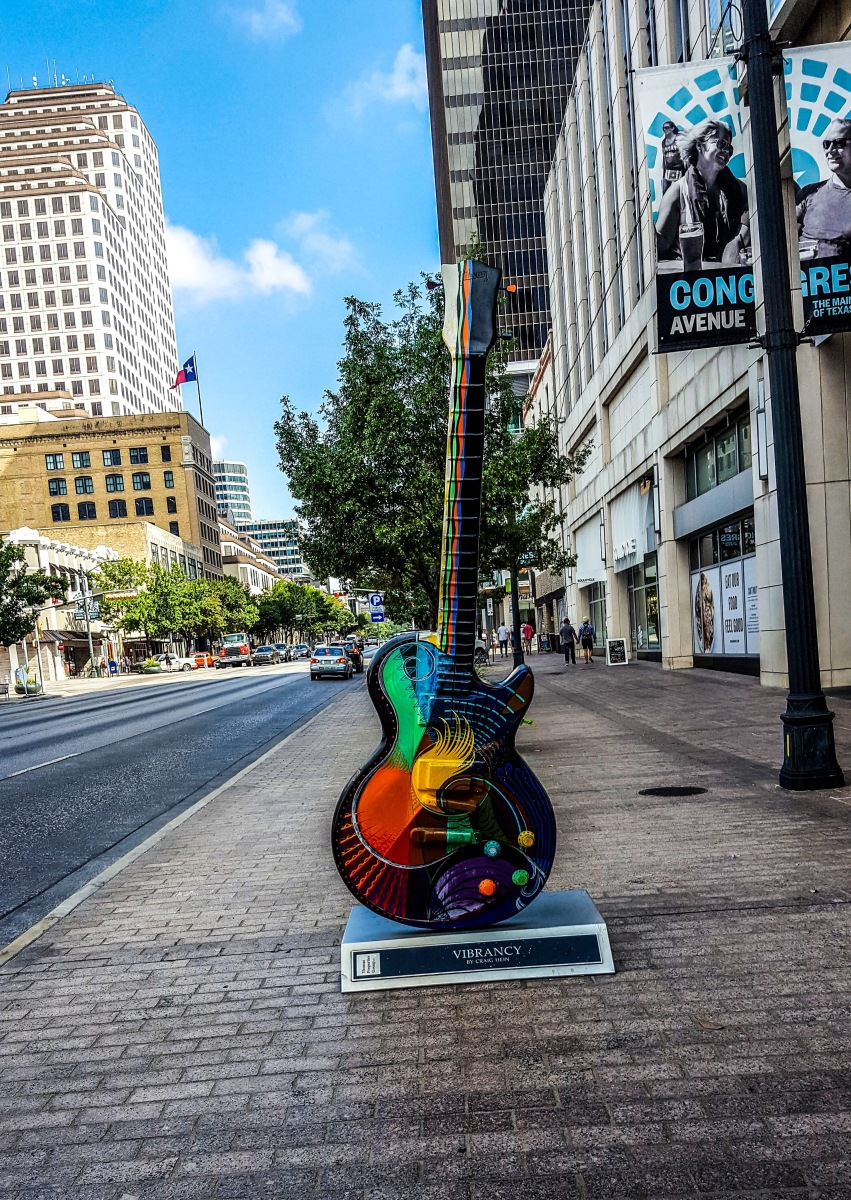 Guitar art downtown Austin Texas