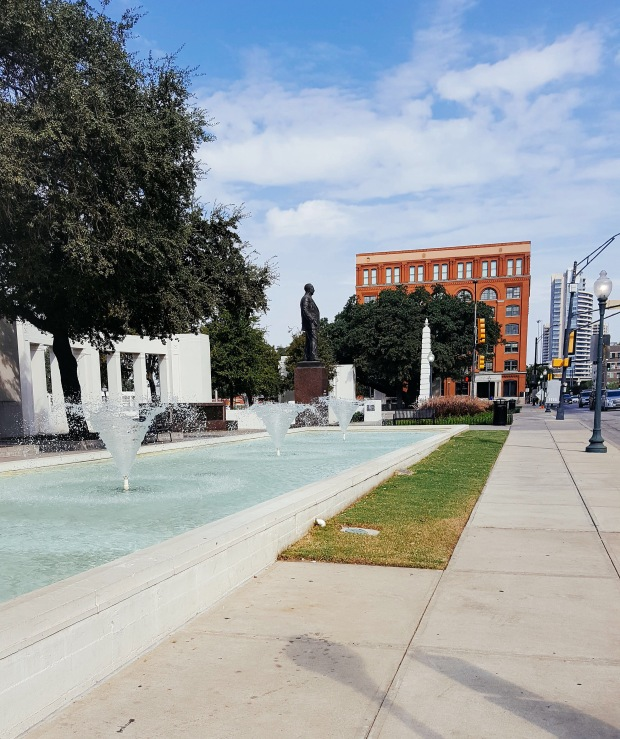 Dealey Plaza and JFK museum Dallas Texas