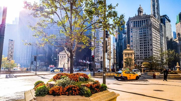 Magnificent mile, Michigan avenue, Chicago