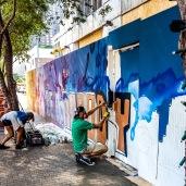 Graffiti art downtown Austin