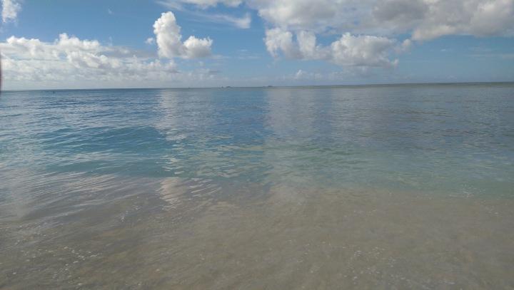Perfect beach scene at Waikiki Beach in Honolulu, Oahu Hawaii