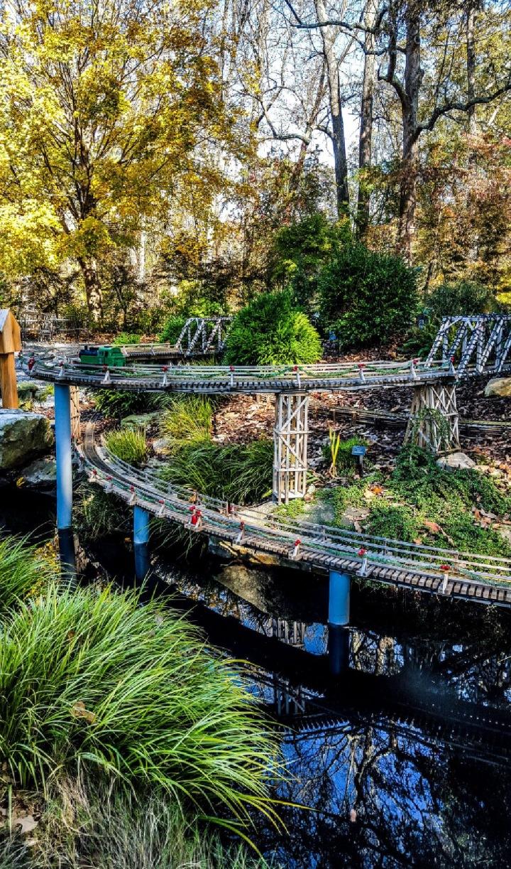 Terrific trains model train village Atlanta Botanical Garden